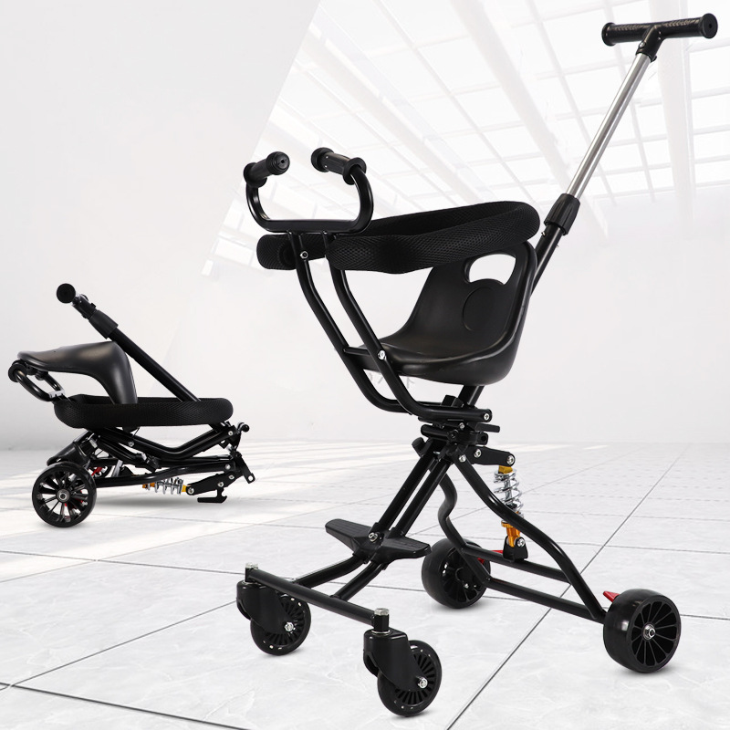 Baby stroller is light and foldable take the baby to go out and slide the baby artifact four-wheeled baby stroller