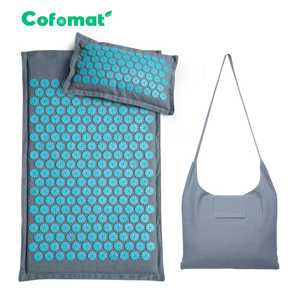 Натуральный льняной Массажный коврик из кокосовой пальмы для йоги, Спортивная подушка, коврик с сумкой в виде лотоса, акупрессура, подушка|Коврики для йоги|   | АлиЭкспресс - Спорт дома