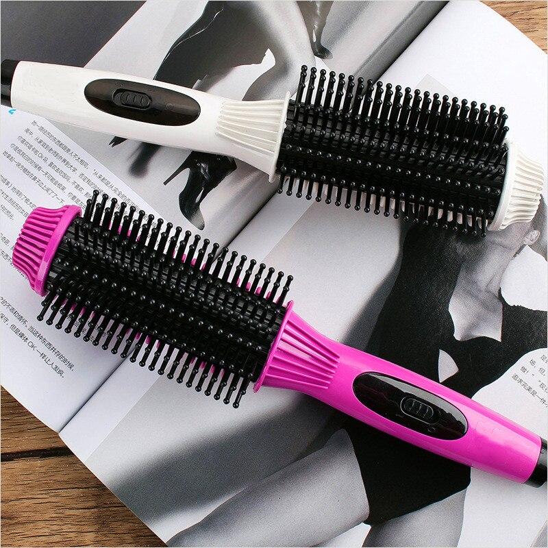 1 alisador cabelo curler pente volumizer quente