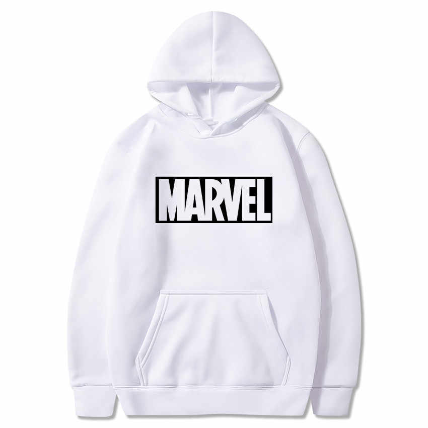 2019 Nieuwe Marvel Brief Print Zwarte Sweater Mannen Hoodies Fashion Effen Hoody Mannen Trui heren Trainingspakken man jassen