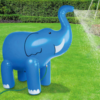 150cm 1pc Inflatable Elephant Simulation Toys Water jet for Children Kids Outdoor Fun Pool Swim Water Play Toys Interaction Toys