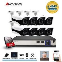 8CH 5MP PoE nvr zestaw do nagrywania wideo w/na zewnątrz 5.0MP PoE kamera IP nagrywanie dźwięku Onvif FTP system cctv wideo zestaw do nadzorowania