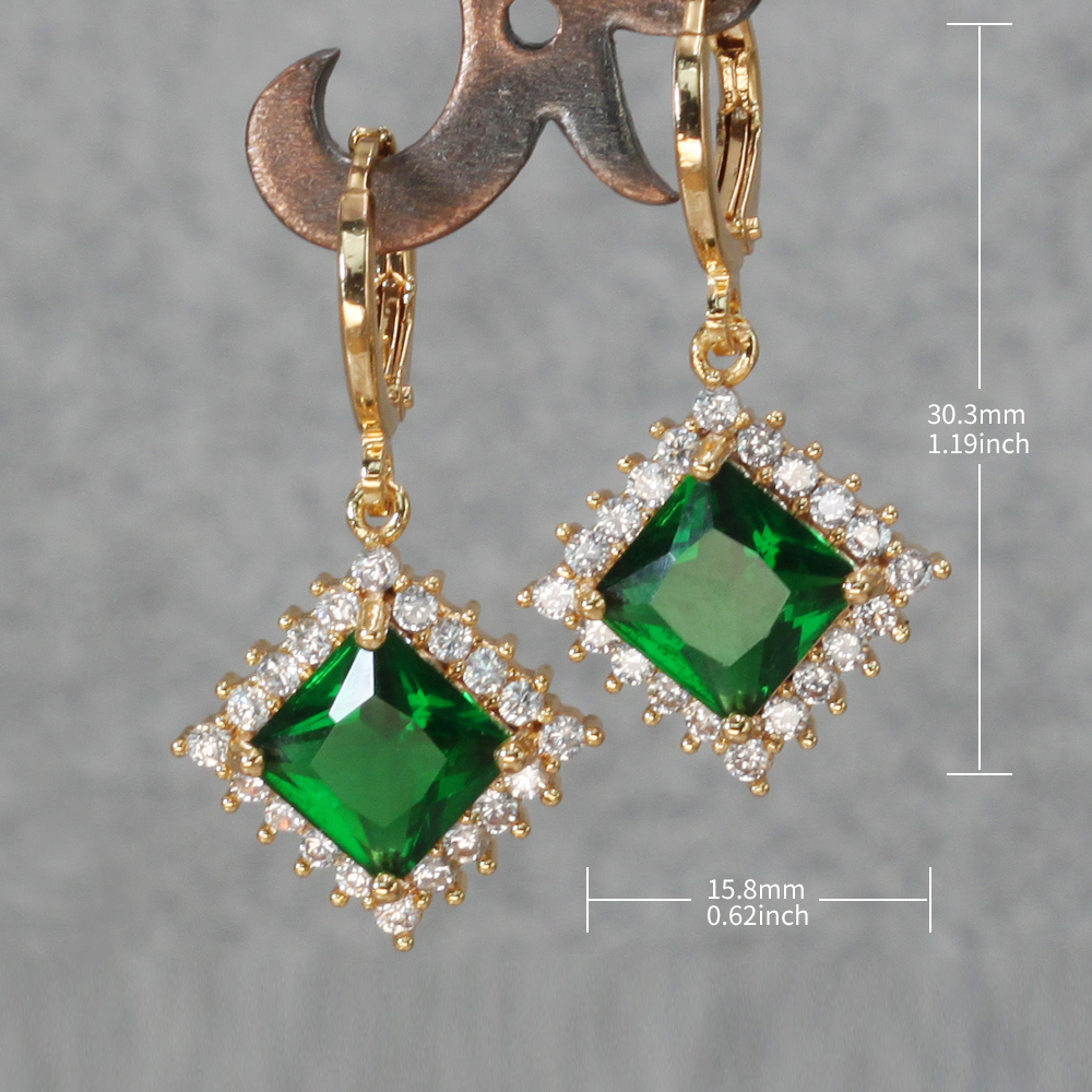 H69a10a53d8d3416ab5dd23b8411a5350I - Trendy Vintage Drop Earrings For Women Gold Filled  Red Green Pink Lavender Zircon Earrings Gold  Earring Wedding  Jewelry