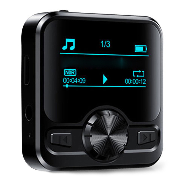 M9 MP3 Player Voice Recorder Portable Digital FM Radio  Support BT Function with 3.5mm Headphones Metal Rechargeable Battery