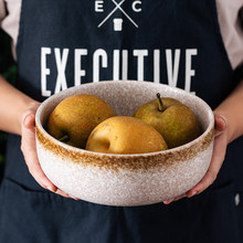 Japanese Style Ceramical Tableware 8 Inches Larg,Porcelain Kitchen Soup Bowl Set,Ramen Dinnerware,Fruit, Salad,Rice Bowls