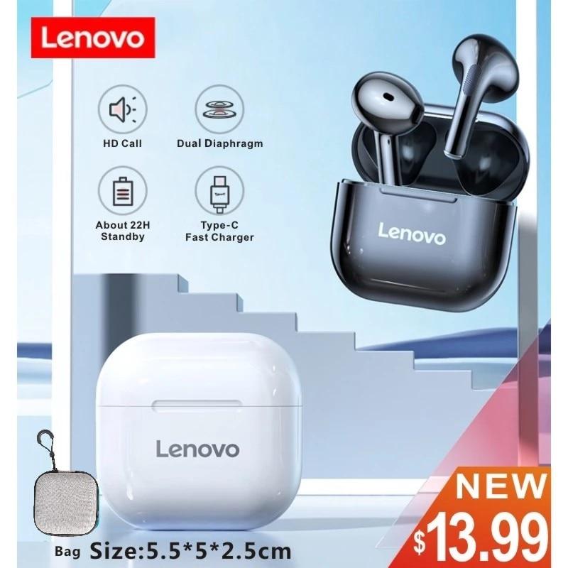 Lenovo – écouteurs sans fil Bluetooth LP40 TWS, oreillettes de Sport, commande tactile, stéréo, pour téléphone Android, en Stock