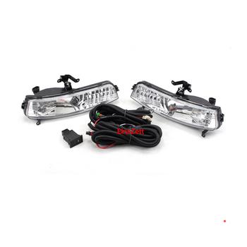 1set Car Fog Light Assembly Kit For Hyundai Accent/Verna 2006-2009 12V Front Bumper Lamp Car Headlight Halogen Bulb With Switch