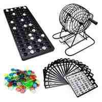 75 bolas-máquina De sorteo Partido De Bingo Juego De bolas De la suerte Loteria/Loterie Juego De Bingo