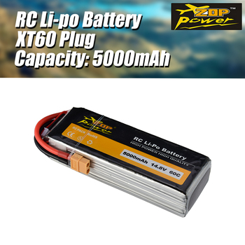 цена на ZOP Power 14.8V 60C 5000mAh 4S Lipo Battery XT60 Plug Rechargeable for RC Racing Drone Quadcopter Helicopter Car Boat