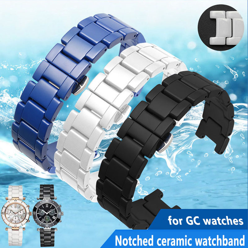 High Quality Ceramic Watchband For GC Watches Band Notched Ceramic Bracelet Fashion
