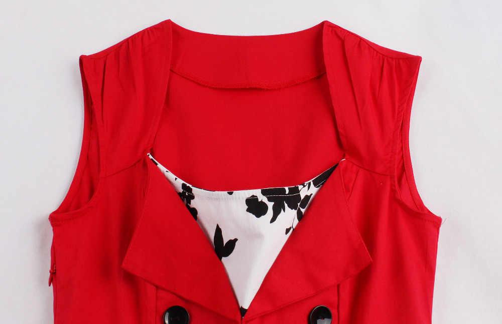 S-5XL Женская одёжная булавка до Jurk Ретро Винтаж 50s 60s роквилли печати качели летние женские платья элегантная Туника Vestido