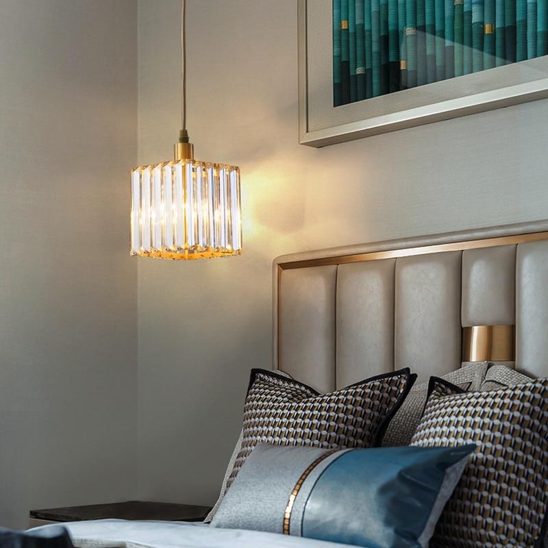 Nordic Kupfer Esszimmer Anhänger Licht Schlafzimmer Loft Stil Bar Mini Suspension Leuchte Licht Leuchte Mit E27 12W LED birne - 5