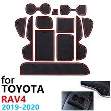 Tapis de porte de voiture antidérapant pour Toyota RAV4 XA50 RAV 4 50 MK5 2019 2020, accessoires pour téléphone