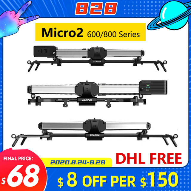 Zeapon Micro 2 E600 E800 M600 M800 Camera Slider Professionele Motoriseren Track Dolly Rail Systeem Voor Dslr Camera S Sony Bmcc canon
