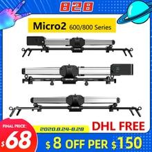 نظام السكك الحديدية من Zeapon Micro 2 E600 E800 M600 M800 كاميرا متزلج احترافي للدراجات النارية نظام دوللي لكاميرات DSLR Sony BMCC Canon