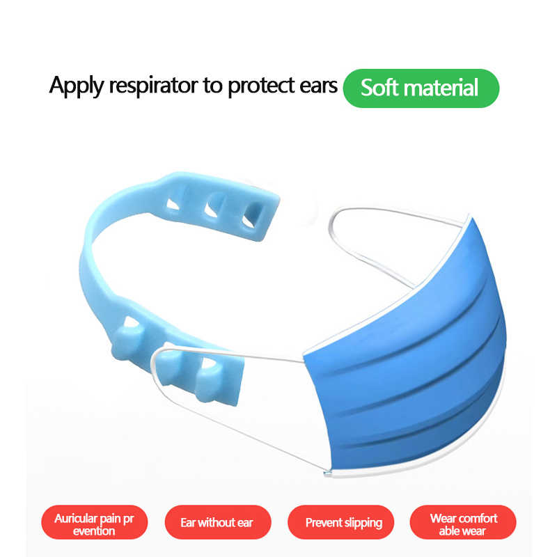 Komorebi 12PCS Strap Extender Adjustable Extension Buckle Anti-Tightening Ear Protector Coloful Ear Hook Strap for Relieving Ear Wearing Pressure