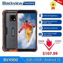Blackview-teléfono inteligente BV4900, 3GB + 32GB, Android 10, resistente al agua IP68, mAh 5580, 5,7 '', NFC, 4G, LTE