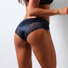 Femmes Sexy sous-vêtements en dentelle sans couture culotte femme slips femme Offre Spéciale glace soie caleçons coton respirant M-XXL 2021 3 pièces
