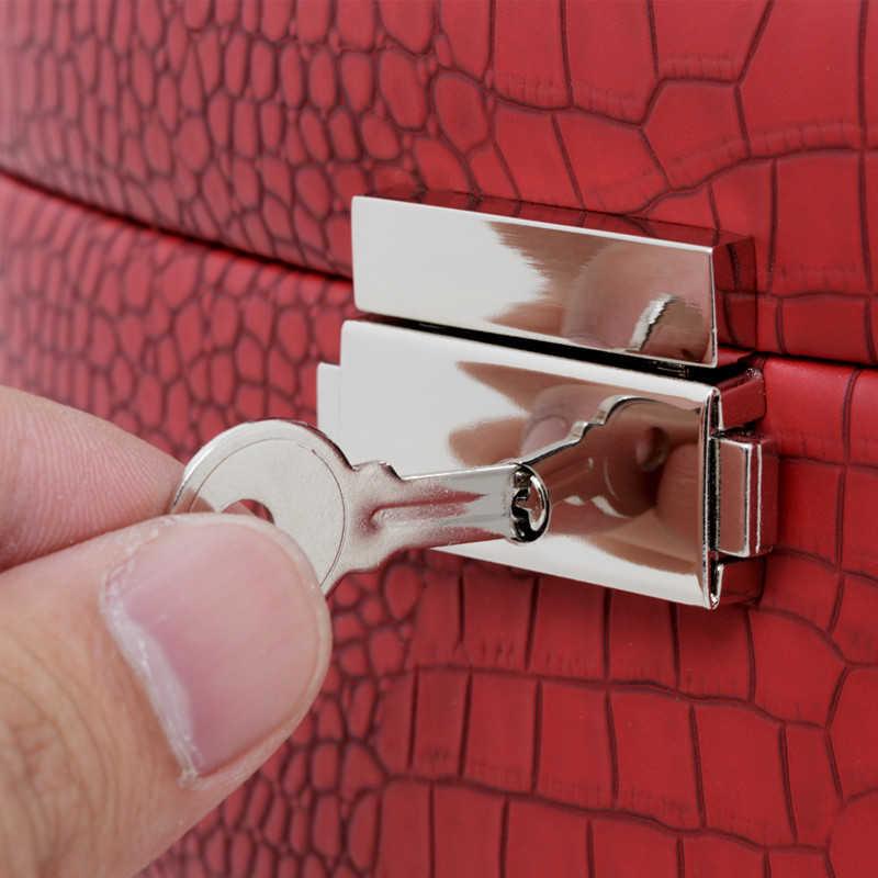 אוטומטי תכשיטי תיבת 3 שכבות תכשיטי מקרה תכשיט חבילה אחסון להחזקת טבעת שרשרת צמיד עגיל פסטיבל מתנה