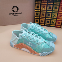 Italian DGujia fashion student sneakers winter 2020 new lace splicing cowhide high quality women's shoes with counter box