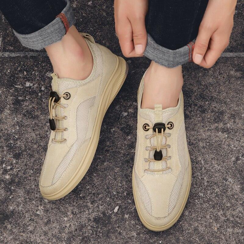 splicing unissex deslizamento-on sapatos leves marca designer casal mocassins