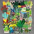 46 шт./лот нашивка с вышивкой растениями утюгом нашивка для одежды Сделай Сам креативные значки кактус нашивки для одежды рюкзак ковбойская ...