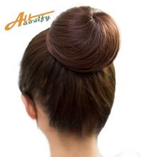 Allaosify10 цветов пучок волос шиньон синтетический пончик ролик шиньон Высокая температура волокна волос пучок покрытие для женщин