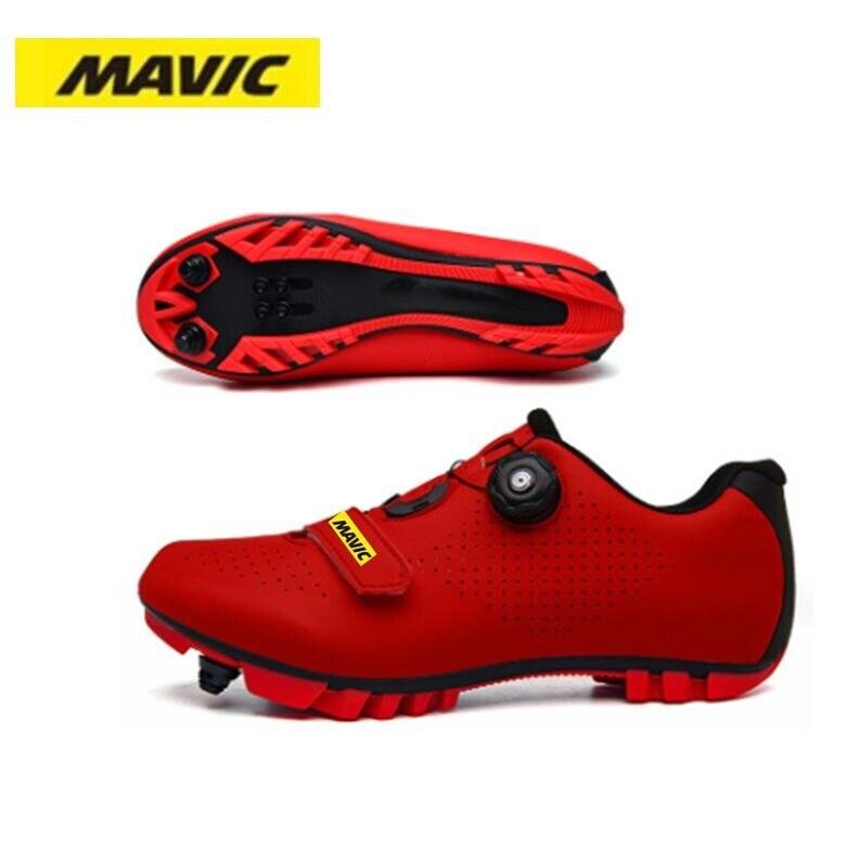 Кроссовки MAVIC мужские для горного велосипеда, профессиональные сверхлегкие сникерсы с самоблокировкой, обувь для горного велосипеда