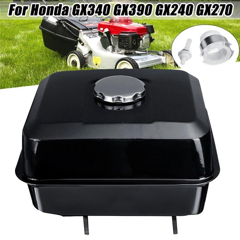 Black Fuel Gas Petrol Tank With Petcock Gas Cap Strainer Filter For Honda GX240 GX270 GX340 GX390 Engine Lawnmower