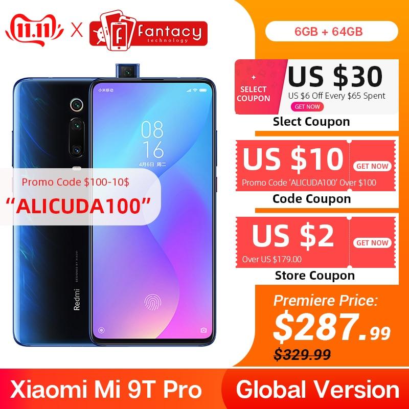 Em Estoque Global Versão Xiao mi mi 9T Pro 6GB 64GB (Red mi K20 Pro) snapdragon 855 Smartphone 6.39