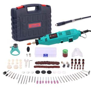 Image 5 - GOXAWEE 220V Mini Drill Electric Rotary Tool with Flexible Shaft and 180pcs Accessories Power Tools for Dremel Electric Drill