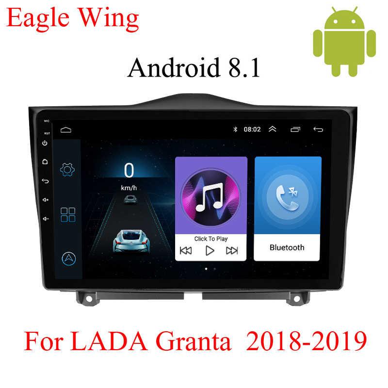 Android 8.1car マルチメディア dvd プレーヤーナビゲーション Lada グランタ 2018-2019 gps ラジオビデオプレーヤーサポートの bluetooth の HD マップ