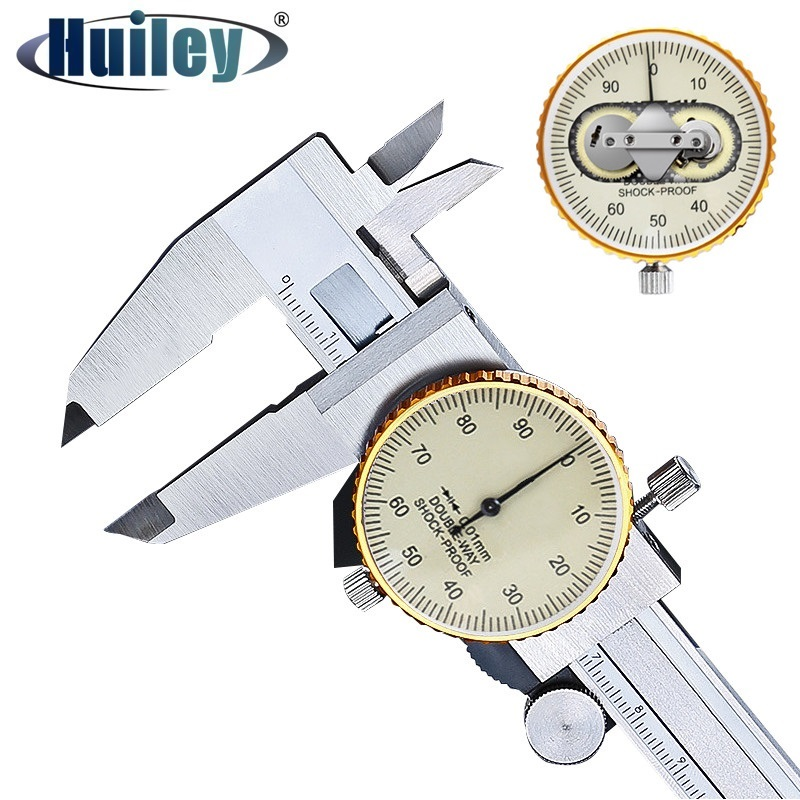 Double Way Shock Proof Metal Dial Calipers 0 01 High Resolution Stainless Steel Vernier Caliper Depth Diameter Measuring Tools