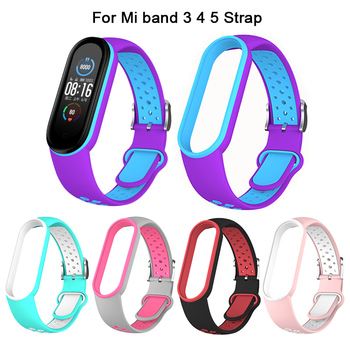 Strap For Mi band 5 4 3 breathable bracelet straps miband sport strap for XiaoMi mi Replacement WristBand