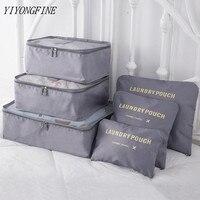 6 Teile/satz Reisetasche Kleidung Organizer Multifunktionale Lagerung Tasche Hohe Kapazität Mesh Verpackung Würfel Unisex Gepäck Organizer Tasche