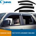 Черные боковые оконные дефлекторы  защита от дождя  дверной козырек для Toyota 4runner 1998  ветрозащитные щитки  ветрозащитные дефлекторы  автомоби...
