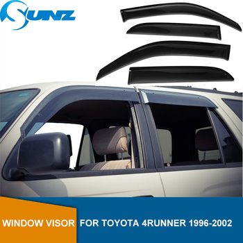 цена на Side Window Deflectors For Toyota 4Runner 1996 1997 1998 2000 2001 2002 Wind Shields  Sun Rain Deflector Guards SUNZ
