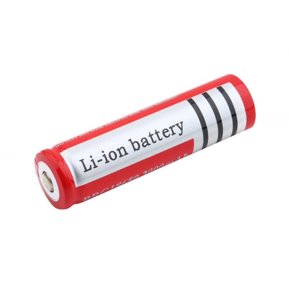 2pcs/lot Unique Lightweight 18650 Red 3.7V 2450-3000mAh Rechargeable Li-ion Battery Safe Environmental Friendly For Flashlight