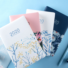 Cute Stationery Notebook 12 months Planner Kawaii A5 Weekly Monthly Daily Diary Planner 2020 Notebooks or office School Supplies цены онлайн
