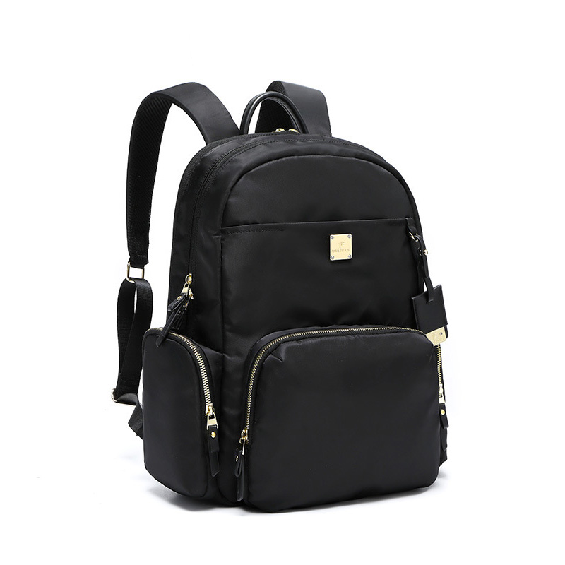 Fashion Waterproof Women Backpack For Laptop 15.6 Inch Oxford Black Business Travel Backpacks Female Designer Back Pack Bookbag