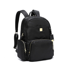 fashion waterproof women backpack for laptop 15.6 inch oxford black business travel backpacks female