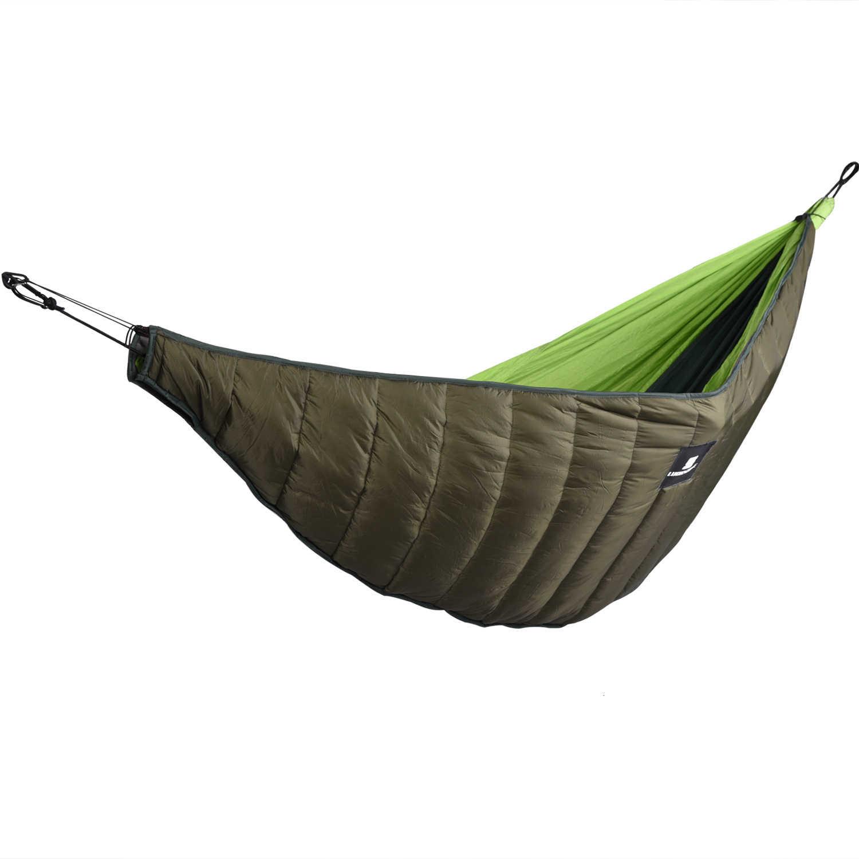 屋外冬暖かい寝袋ハンモック Underquilt ウォーマー下キルト毛布キャンプハイキング綿 Hamac