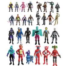 Fortnite-figuras en miniatura de juguete para niños, juguete de 10-15cm de segunda generación con arma