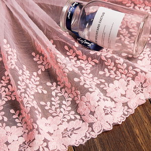 Image 4 - 1 ヤードホワイトレース生地 32 センチメートル幅綿刺繍ミシン用品リボンレース diy 衣服カーテンアクセサリー