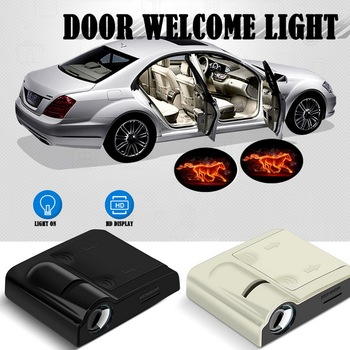 цена на Wireless Car LED Door Logo Light Laser Projector Ghost Shadow Welcome Light Universal Light Projection No Drilling