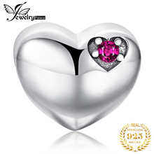 JewelryPalace 925 Sterling Silver Heart Bead Charms Silver 925 Original For Bracelet Silver 925 original Bead For Jewelry Making