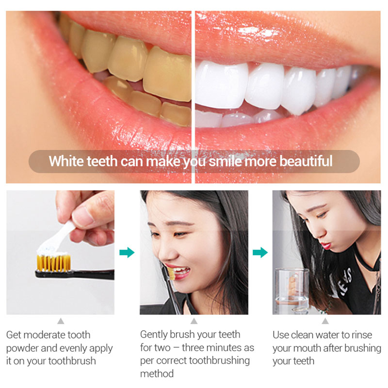 Tooth Whitening Powder 50g Fresh Dazzle Teeth Brighten Oral Hygiene Cleaning Tools Plaque Tartar Stains Remover Gentle