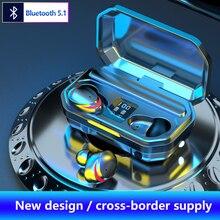 Bluetooth V5.1 наушники Беспроводной наушники С микрофоном спортивная водонепроницаемая гарнитура зарядным устройством для Android