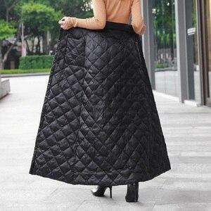 Image 2 - สีดำผ้าฝ้ายพลัสขนาดVintage 2020 สูงเอวเสื้อผ้าฤดูใบไม้ร่วงฤดูหนาวCasual Maxiยาวกระโปรงผู้หญิงกระโปรงผู้หญิงStreetwear