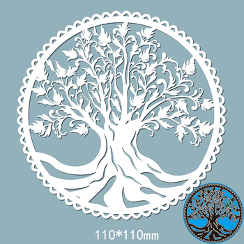 110*110mm lace circle tree new Metal Cutting Dies Scrapbooking DIY Album Paper Card Craft Embossing stencil Dies naifumodo circle dies metal cutting dies scrapbooking lace frame craft dies diy album for card making decor paper new 2019